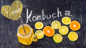 Kombucha with citrus fruits