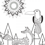 Animal Mandala Coloring Page