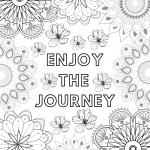 Enjoy the Journey Mandala Coloring Page