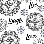 Live, Laugh, Love Mandala Coloring page