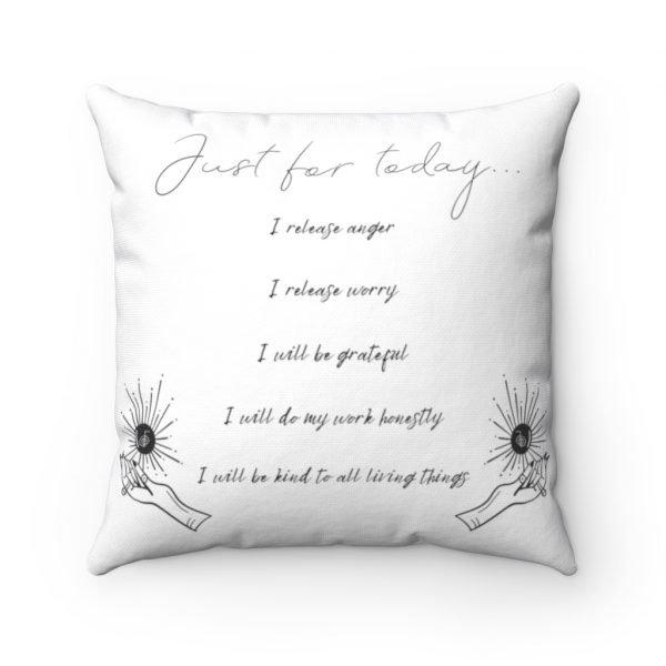 5 Reiki Principles throw pillow for reiki room