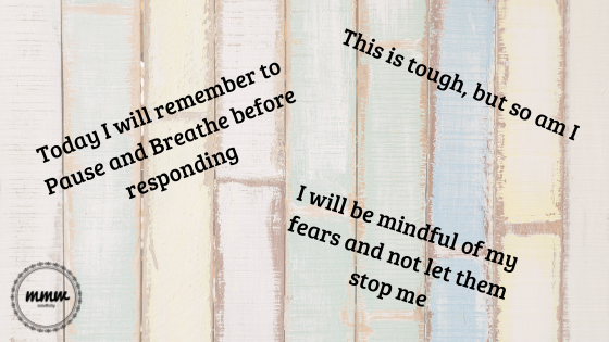 affirmations on wood background for blog post and FB post